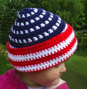 Crochet toddler's hat (and real toddler)